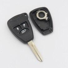 Дистанционного Ключа Чехол, пригодный для Chrysler Jeep Dodge Avenger Nitro Замена 3 Кнопки Пустой Ключ С Логотипом