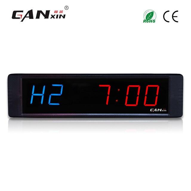 """[Ganxin] 1 """"LEVOU o ginásio relógio digital modo de ciclo personalizado jogos temporizador de contagem regressiva cronômetro"""