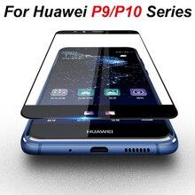 Huawei p10 p9 p 9 10 플러스 라이트 스크린 프로텍터 보호 글라스 필름 커버 케이스 9h 용 화웨이 p10 라이트 용 강화 유리