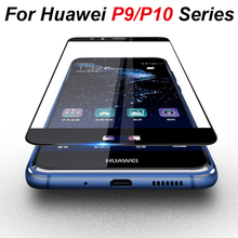 Temperli cam huawei p10 lite için huawei p10 p9 p 9 10 artı lite ışık ekran koruyucu koruyucu cam film kapak kılıf 9h