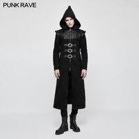 Панк рейв Готический длинное пальто стимпанк Visual Kei рок тяжелый металл Кера Толстовка пара Для Мужчин's Trech Y816