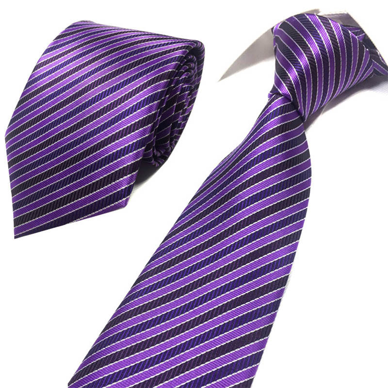 New Men's Formal 8 Cm Width Ties Classic Polyester Woven Party Neckties Fashion Solid Dots Man Tie For Wedding Business Male Tie