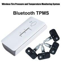 Bluetooth TPMS для Andriod телефон Беспроводной шин Давление мониторинга Системы Bluetooth шины Давление 4 шт. внутренний датчик