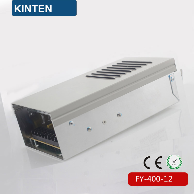 400W 12V 33A Single Output Rainproof Switching power supply for LED Strip light AC to DC LED Driver FY-400-12 hot sale 12 volt switching power source supply rainproof 12v 15 200w fy 201 12 16 5a single output china