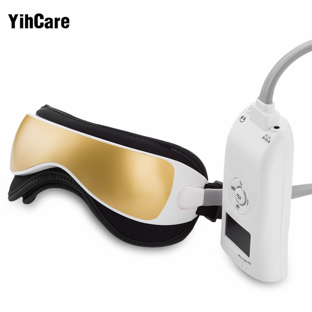 YihCare Music Electric Vibration Magnetic Air Pressure Far-Infrared Eye Massager Machine Heating Massage Glasses Eye Care Device vibration type pneumatic sanding machine rectangle grinding machine sand vibration machine polishing machine 70x100mm