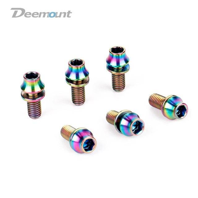 Deemount 4 unids/lote de titanio TC4 pernos M5x12mm cabeza hexagonal ...
