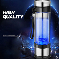 Portable Hydrogen Generator Ionizer For Pure H2 Rich Hydrogen Water Bottle Electrolysis Hidrogen Healthy Anti Aging Cup 350ML