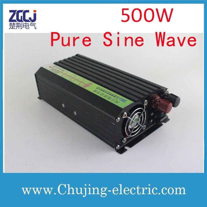 500 W 12 V-220 V onduleur, onde sinusoïdale pure DC-AC onduleur 500 W DC 12 V à AC 220 V onduleur