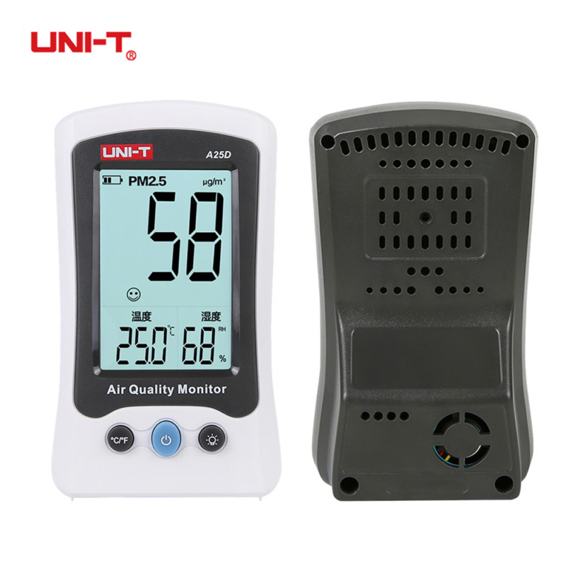 UNI-T A25D PM2.5 Testers Air Quality Measurement Meters Detector Auto Range Overload Indication Gas Temperature Humidity Monitor az 7788 desktop co2 temperature humidity monitor data logger air quality detector