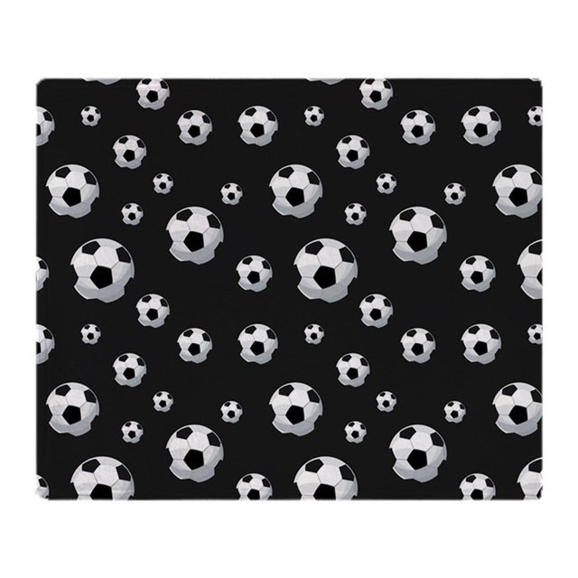 Soccer Balls Pattern Soft Fleece Throw Blanket Super Soft Printing Family Car and Sofa Throws Office Quilts
