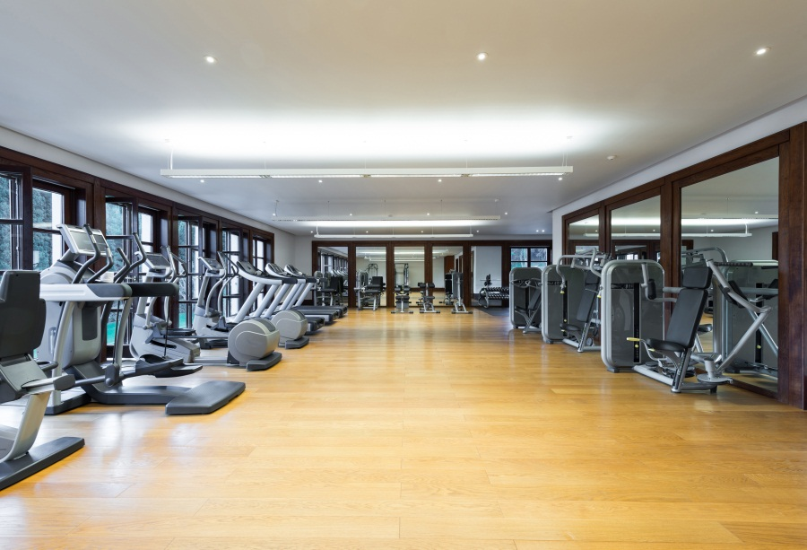 Laeacco Sport Gym Interior Treadmill Fitness Wallpaper ...