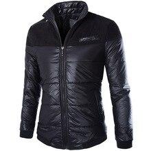 Новая зимняя куртка высокое качество мужская вниз верхняя одежда свободного покроя парка мужчины хлопка-ватник красивый зимний пуховик мужчин Y209