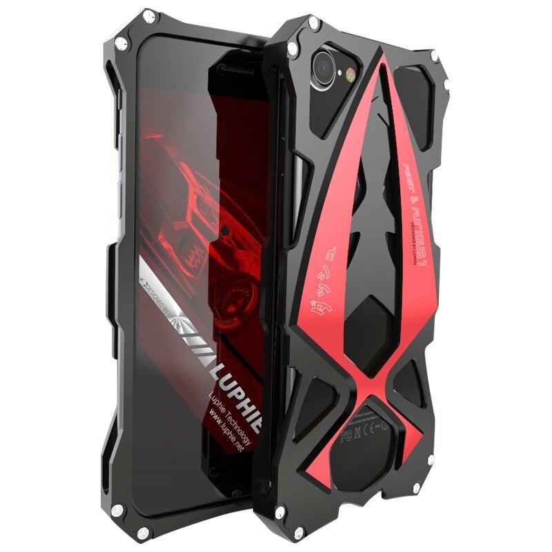 imágenes para Luphie Metal cajas del teléfono cubierta para apple iphone 7 Caja de Lujo 6 6 s 7 plus coque Aviación Aluminio color dual Armor Tough fundas