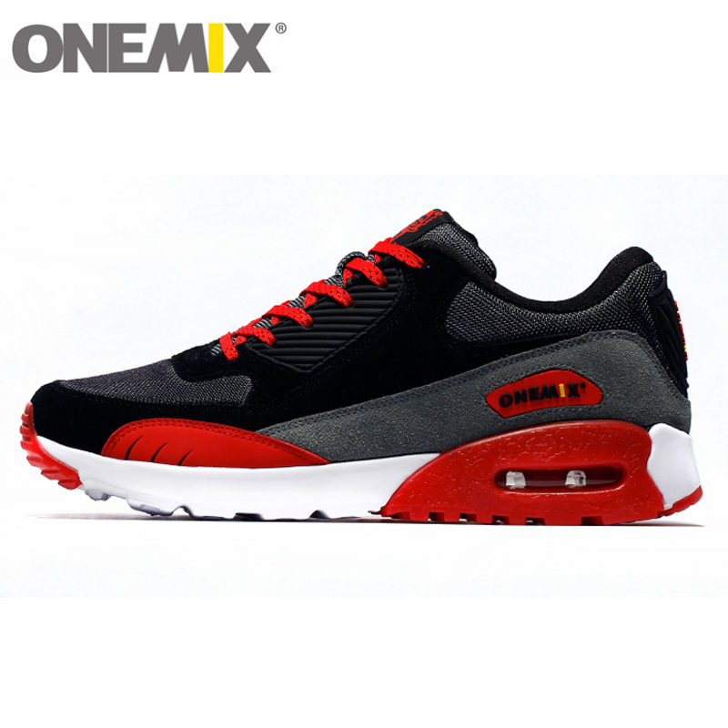 ФОТО onemix Air 90 Men's Damping Trail 87 Running Shoes for Women Breathable Mesh FREE Sneaker Trail Race Outdoor Walking Size 36-45