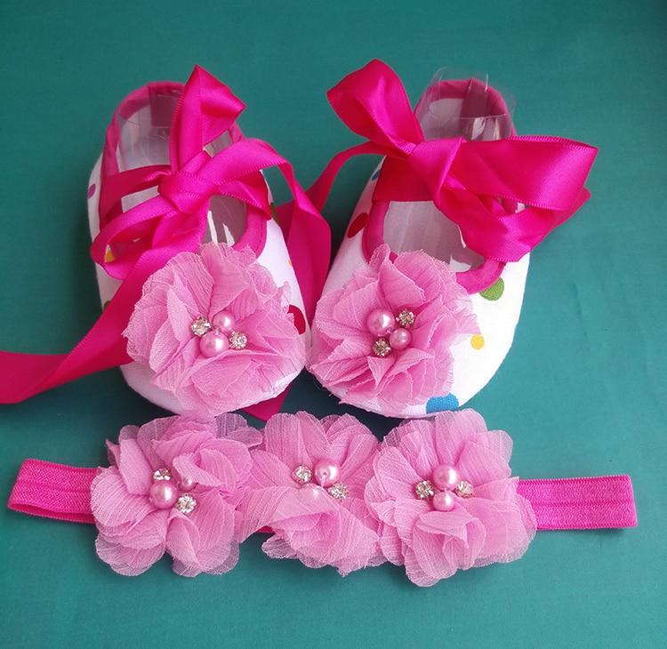 baptism Ballerina newborn booties rhinestone toddler girl shoes headband set,baby ballerina,christening shoes for baby girl