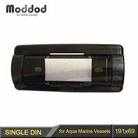 One Din Boat Radio Dash Kit for Aqua Marine Cover Up Automatic Door Vessels CD Waterproof Pocket Fascia Frame