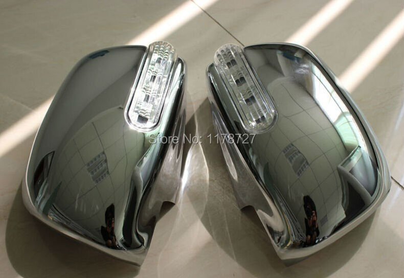 For toyota hilux Vigo fortuner innova accessories ABS chrome rear vmirror cover cap with LED side lamp fit for toyota hilux цена