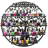 6 Layers Iron Nail Polish Shelf Manicure Special Cosmetics Boutique Store Shelves Round Gel Nail Polish Display Wall Rack