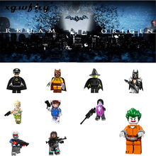 Hot 1pcs Super Heroes Building Blocks Joker batman wonder robin Jack Sparrow Thanos Figure Bricks Toy Compatible Lgoed JM220