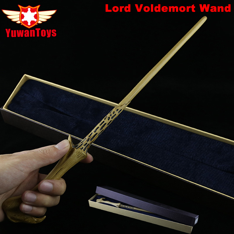 New Metal Iron Core COS Lord Voldemort High Quality Metal Core Wand Harry Potter Magic Magical Wand Movie Toys Gift Box Packing 2style cosplay albus dumbledore play magical magic wand gift in box metal core harry potter magical wand
