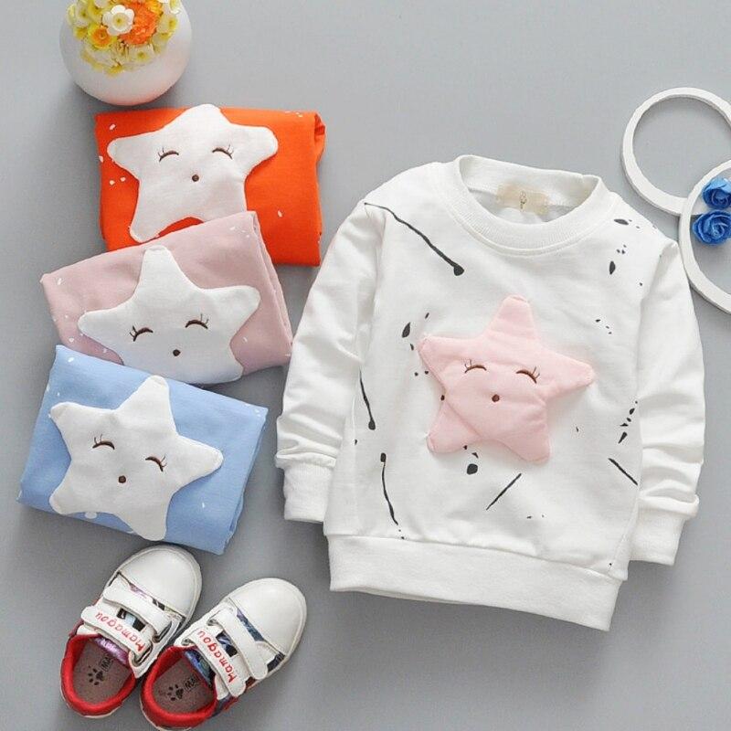 Dei Bambini di modo Delle Ragazze Dei Ragazzi Del Fumetto A Maniche Lunghe T-Shirt Per Bambini Bloues all-fiammifero Coreano Star Giacca Ragazza