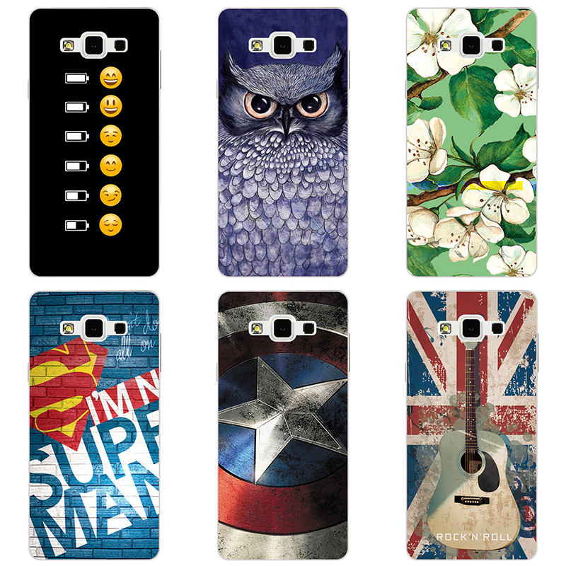 fashion style phone case phone shell For <font><b>Samsung</b></font> GALAXY A8 <font><b>A8000</b></font> Hard plastic Phone Case colorful painting skin shell image