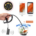 1.5M HD 720P Wireless Wifi Endoscope 8mm 2MP Borescope Waterproof Inspection Snake Camera for iPhone Android Phone Tablet PC