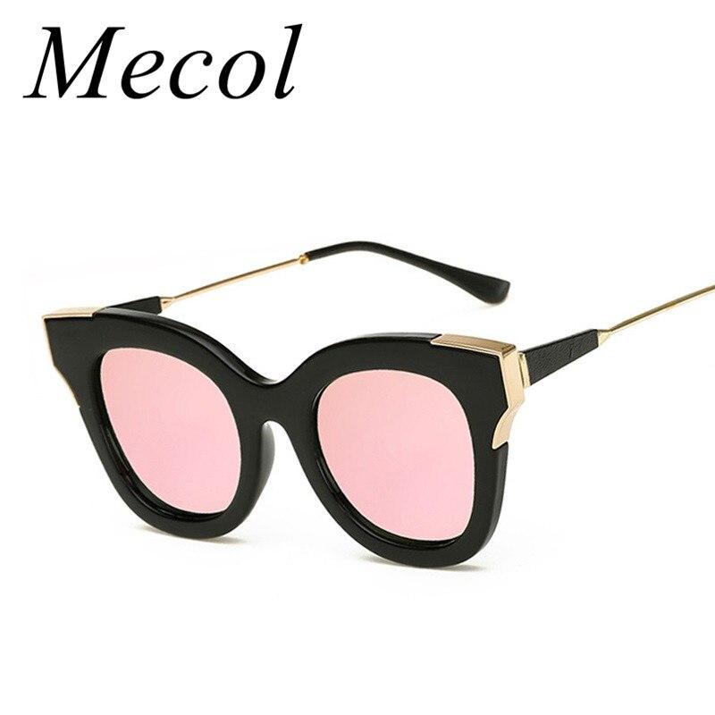 Mecol Мода Cat Eye Женщины Солнцезащитные Очки Женские Солнцезащитные Очки Известный Бренд Дизайнер Сплава Ноги Очки Óculos De Sol женщина для 607 М