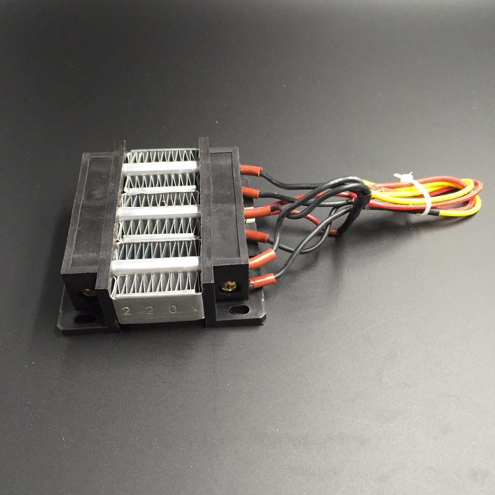 (1 piece/lot) 24V/48V/220V 200W 75x75x26mm PTC Ceramic Air Electric Heater Plate With Insulating Film Mini Heating Element Chips