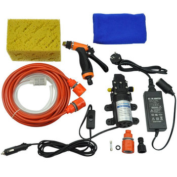 High Pressure Self-priming Electric Car Washing Washer Machine 12V Car Washer Pump Cleaner + 220 to 12V Adapter Package image