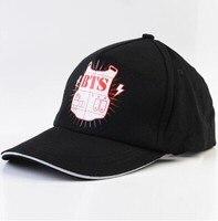 2016 הצעה מיוחדת מיהר Gorras Bts Bulletproof צוער כובע כובע בייסבול לוגו Bangtan גרסה באיכות גבוהה סגנון k-pop Snapback