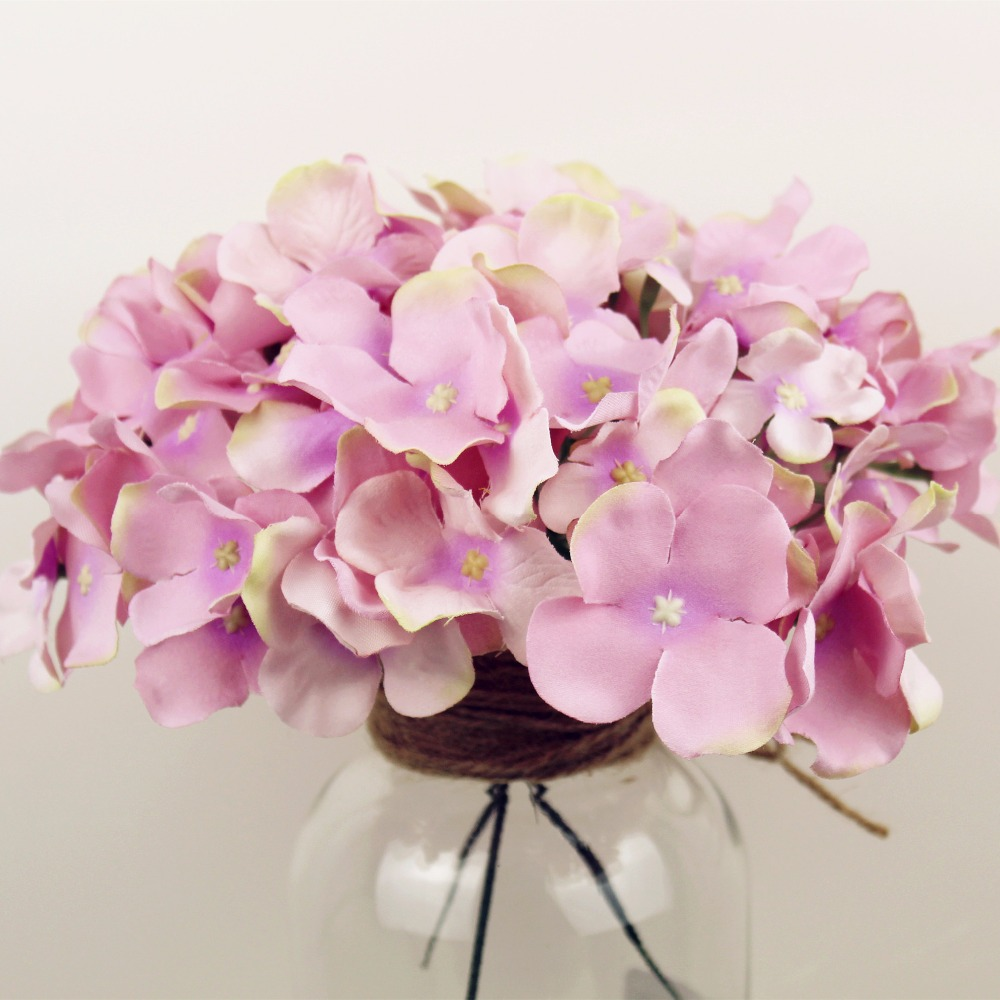 Apricot Artificial Flower For Wedding Decoration Fake Flowers Spring