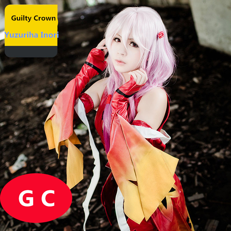 Guilty Crown GC egoist Yuzuriha Inori Formula for clothing Combat gear Red cosplay costume