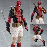 X Men Deadpool Action Figure Little EX 042 DX Ver. MAXFACTORYXMASAK APSY PVC Collectible Model Toy 16cm