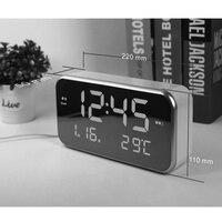 LED Digital Multi function Alarm Clock Mirror Clock Temperature Sleepy Home Decoration Mirror Clocks