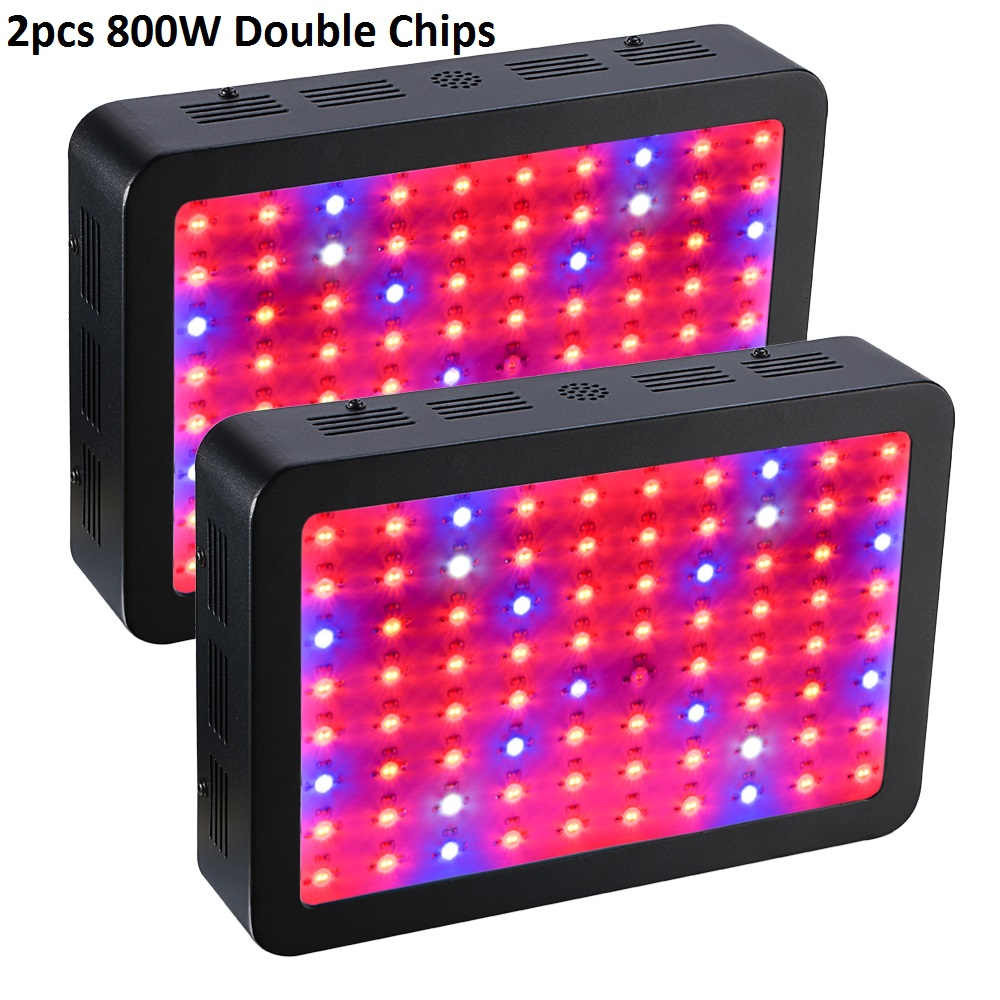 2PCS BOSSLED 800W Double Chips 410-730nm LED Grow Light Full Spectrum For Indoor Plants and Flower Phrase led Lights For Growing