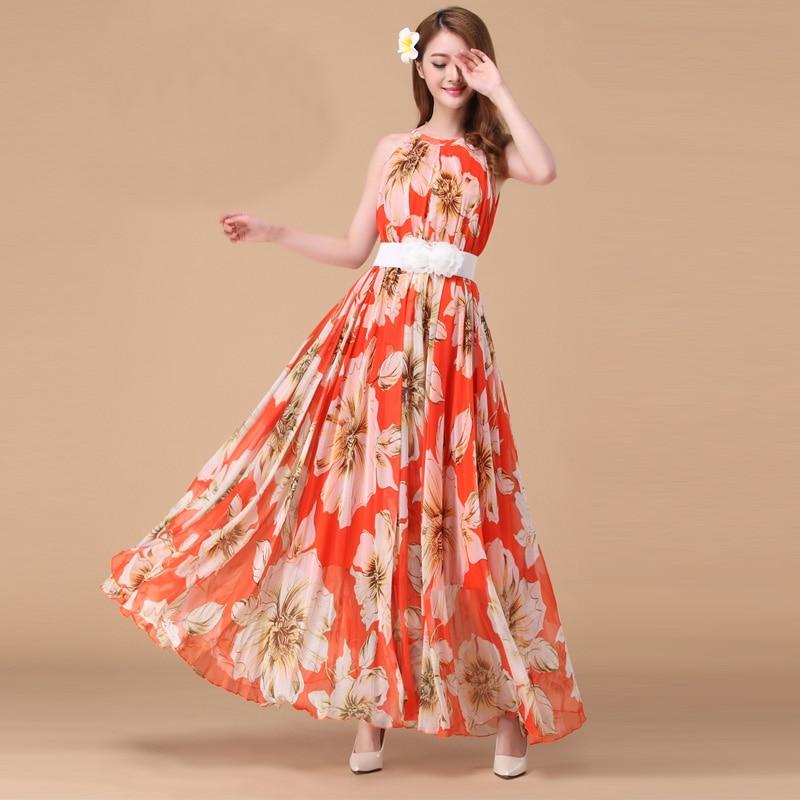Lily Floral Long Beach Dress Casual Day Maxi Dresses Summer Bohemian honeymoon hawaii Dress maternity dress