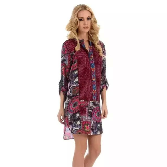 Robe Pas Desigual robe Imitation Cher Cher hQrtds