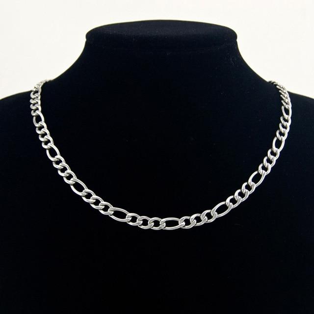 Фото цепочка с кубинским плетением для мужчин и женщин базовое ожерелье