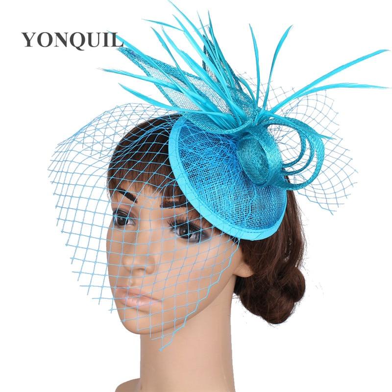Alta calidad de múltiples colores sinamay base fascinator headwear  accesorios nupciales del pelo rojo sombreros cóctel YQ16001 84abb8f6552