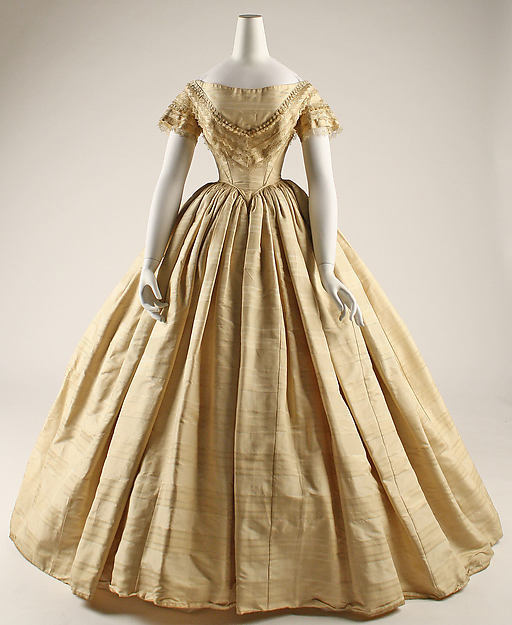1859 American Historical Gown Party Theater Dress