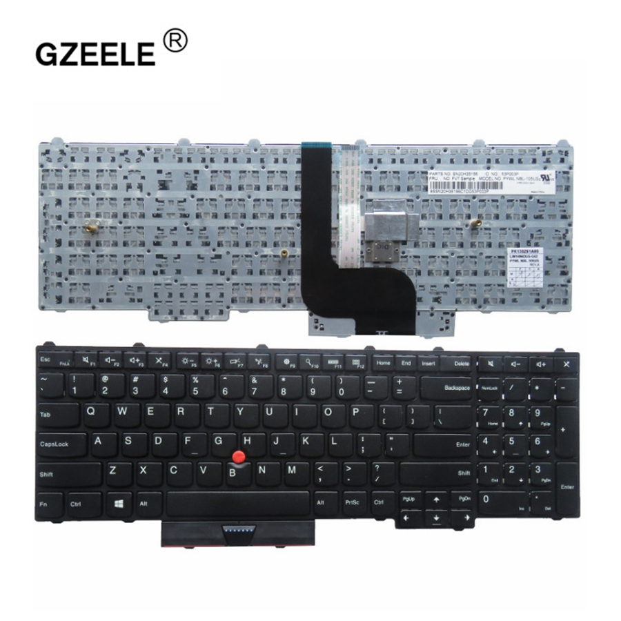 GZEELE New for lenovo IBM Thinkpad P70 P70S P50 P50S MT 20EN 20EQ English US laptop Keyboard notebook Without backlight BLACK new english laptop keyboard for lenovo thinkpad edge e530 e530c e535 us keyboard 04y0301 0c01700 v132020as3