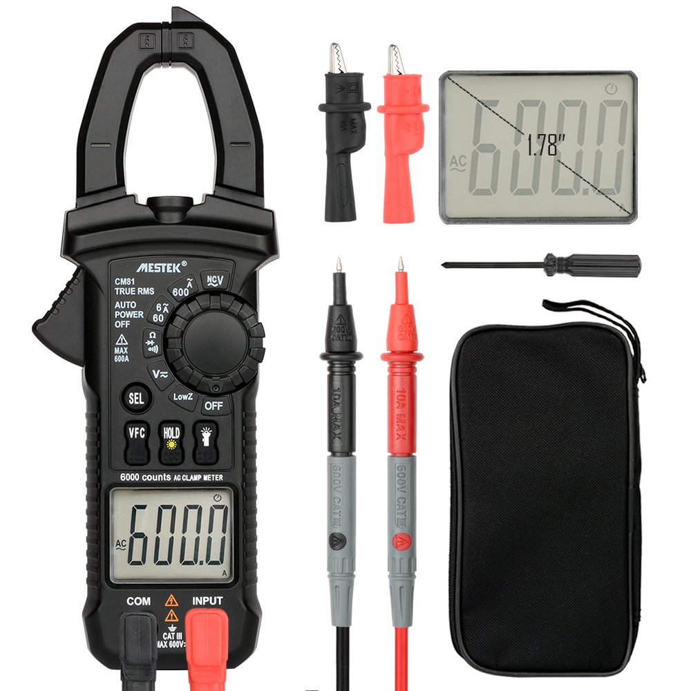 MESTEK Pinças Pinça de Corrente Multímetro Digital Clamp Meter AC/DC Voltage Tester Resistência de Medição Ferramentas alicate amperímetro
