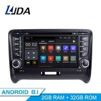 LJDA 2 Din Android 8,1 радио автомобиль AUDI TT 2006 2012 2 г Оперативная память Автомобильный мультимедийный головного устройства Стерео авто Аудио gps DVD вид