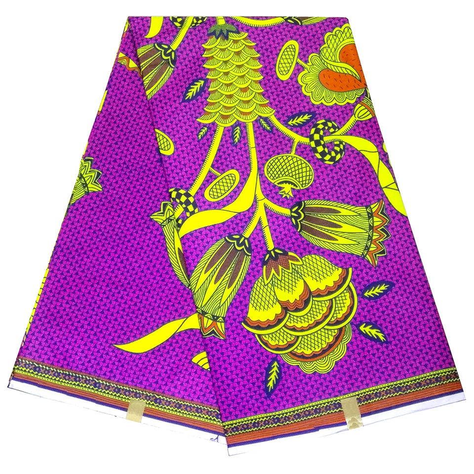 Fashion Purple ankara african wax print fabric,Vitenge veritable ...