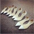 2017 Мода Острым Носом Женщины FlatsTransparent Плюс Размер 40-42 Мелкая Рот Плоские Туфли Небольшой 33 Обувь Одного