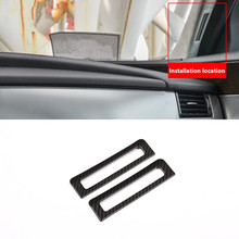 ABS 2 шт. спереди столб кондиционер выходе рамка украшения крышка отделка для Jaguar XE x760 XF X260 2016 для интерьера автомобиля