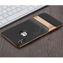 360 Protective Kickstand PC+TPU Shock Proof Holder Case For iPhone X 10  7 6 6s Plus