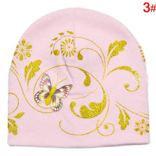 11acb13b0a9 Embroidery Butterfly Printed Baby hat Newborn Elastic Skull Beanie Cap  Toddler Infant Cotton Beanie Hat 5 Colors SW006-in Hats   Caps from Mother    Kids on ...