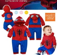 Baby Boy Spiderman Halloween Costume Jumpsuit Costume Romper Winter Clothes Baby Bodysuits Long Sleeve Bodysuite Hooded